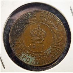 1917 Newfoundland One Cent