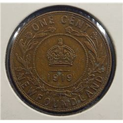 1919 Newfoundland One Cent