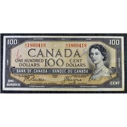 1954 BC-35b - (Devils Face) $100 - Bank of Canada - Banknote