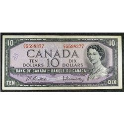 1954 BC-40b - Modified Portrait $10 Dollar - Bank of Canada - Banknote