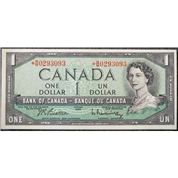 1954 One dollar Bank of Canada Replacement Note