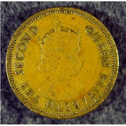 1962 Eastern British Caribbean 5 Cents