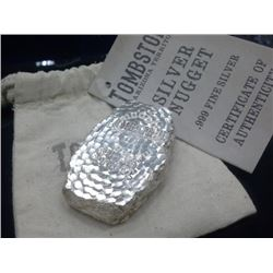 5oz - Tombstone .999 pure silver nugget