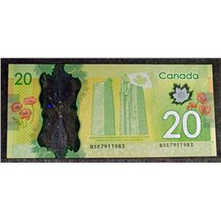 Birthday Serial Number - 2012 - BC-71aA-N7 - - Bank of Canada - - $20 Replacement Banknote - Scarce