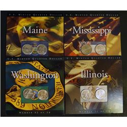 Lot of 4 Assorted US Mint  State Quarter UNC Sets