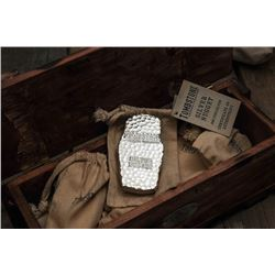 Tombstone Monster +1KG Silver Bar - custom made wooden box & 1kg .999 pure silver tombstone bar