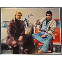 11x14 autographed photo from 'Starsky & Hutch' - signed by David Soul and Paul Michael Glaser.