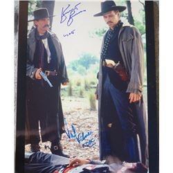 11x14 photo signed by Kurt Russell and Val Kilmer in 'Tombstone'