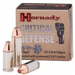 *AMMO* 380ACP Hornady Critical Defense FTX JHP 90 Grain (250 ROUNDS) UPC 90255900804