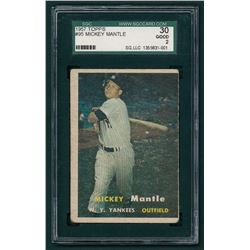 Mickey Mantle 1957 Topps #95 (SGC 2)
