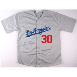 "Maury Wills Signed Dodgers Jersey Inscribed ""MVP NL '62"" (PA COA)"