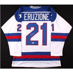 "Mike Eruzione Signed 1980 Team USA ""Miracle on Ice"" Jersey (JSA COA)"