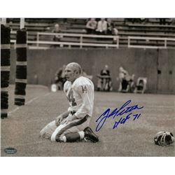 "Y. A. Tittle Signed 8x10 Photo Inscribed ""HOF 71"" (Schwartz COA)"