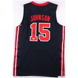 "Magic Johnson Signed Team USA ""Dream Team"" Jersey (PSA COA)"