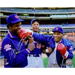 "Dwight ""Doc"" Gooden Signed Mets 8x10 Photo with Mike Tyson (Schwartz COA)"