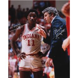 Bobby Knight & Isiah Thomas Dual Signed Indiana Hoosiers 16x20 Photo (Schwartz COA)
