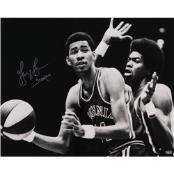 "George Gervin Signed Squires 16x20 Photo Inscribed ""Iceman"" (Schwartz COA)"
