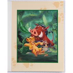"Hakuna Matata Simba, Timon & Pumbaa ""The Lion King"" 1995 Walt Disney Special Edition Lithograph"
