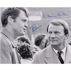 Barry Switzer & Tom Osborne Signed 16x20 Photo (Schwartz COA)