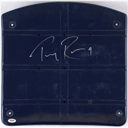 Tony Romo Signed Dallas Cowboys Blue Stadium Game-Used Seat Bottom (PSA COA)