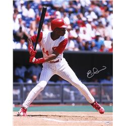 Eric Davis Signed Reds 16x20 Photo (Schwartz COA)