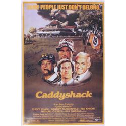 Chevy Chase, Cindy Morgan & Michael O'Keefe Signed  Caddyshack  24x36 Movie Poster (PSA COA & Schwar