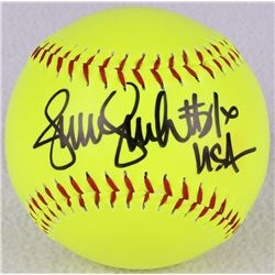 "Jennie Finch Signed Softball Inscribed ""USA"" (Schwartz COA)"