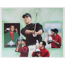 Tiger Woods 18x22 Lithograph from Anthony Doulgas