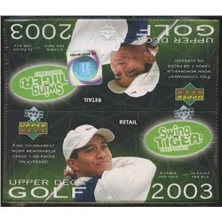 2003 Upper Deck Golf Retail Box of (24) Packs