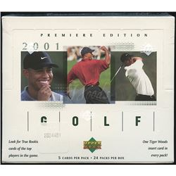 2001 Upper Deck Golf Retail Factory Sealed Box of (24) Packs