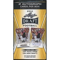 2014 Leaf Draft Football Box with Two Autographs
