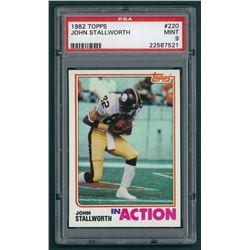 John Stallworth 1982 Topps #220 In Action (PSA 9)