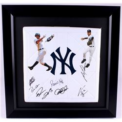2010 New York Yankees Team-Signed 22x22x3 Custom Framed Base Display with (8) Signatures including D