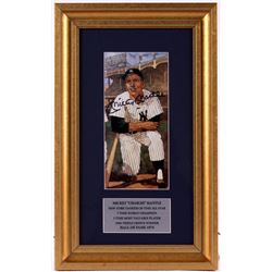 Mickey Mantle Signed Yankees 11x18 Custom Framed Display (JSA LOA)
