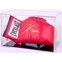 Julio Cesar Chavez Signed Everlast Boxing Glove with Display Case (PSA COA)