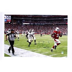 "David Johnson Signed Cardinals ""Touchdown vs Saints"" 20x30 Photo on Canvas (JSA COA)"