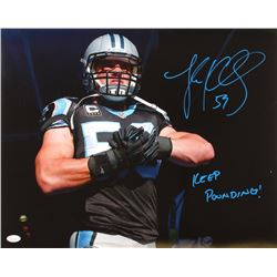 "Luke Kuechly Signed Panthers 16x20 Photo Inscribed ""Keep Pounding!"" (JSA COA)"