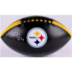 Antonio Brown Signed Steelers Logo Football (TSE COA)