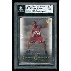 LeBron James 2003 Upper Deck LeBron James Box Set #27 / Tall Task  (BCCG 10)