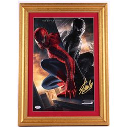 "Stan Lee Signed ""Spider-Man"" 16x22 Custom Framed Poster Display (PSA COA)"