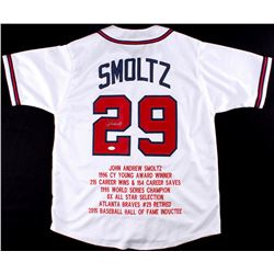 John Smoltz Signed Braves Career Highlight Stat Jersey (JSA COA)