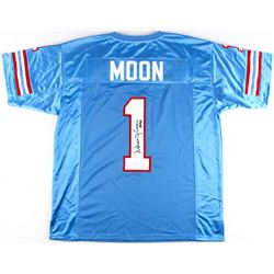 "Warren Moon Signed Oilers Jersey Inscribed ""HOF 06"" (JSA Hologram)"