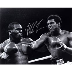 Mike Tyson Signed 16x20 Photo vs. Muhammad Ali (JSA COA)