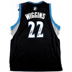 "Andrew Wiggins Signed Timberwolves Jersey Inscribed ""ROY 2015"" (JSA COA)"