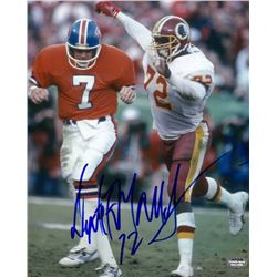 Dexter Manley Signed Redskins 8x10 Photo vs. John Elway (Schwartz COA)
