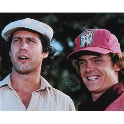 "Michael O'Keefe Signed ""Caddyshack"" 16x20 Photo with Chevy Chase (Schwartz COA)"