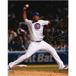 Pedro Strop Signed Cubs 8x10 Photo (Schwartz COA)