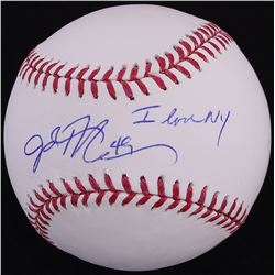 "John Rocker Signed OML Baseball Inscribed ""I Love NY"" (JSA COA)"