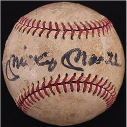 Mickey Mantle Signed Vintage Little League Baseball (JSA LOA)