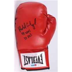 "Michael Carbajal Signed Everlast Boxing Glove Inscribed ""49 Wins 33 KO's"" (PA COA)"